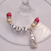 Gin Personalised Wine Glass Charm - Elegance Style
